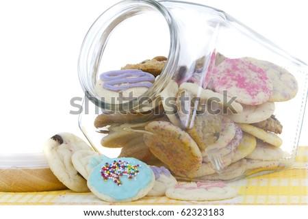 homemade allergen free cookies - stock photo