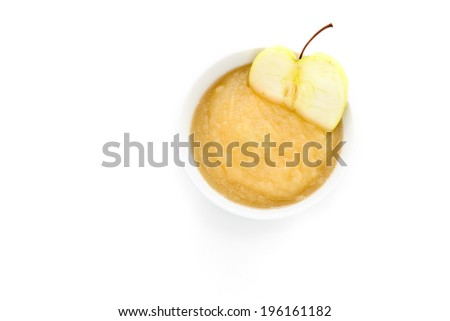Homemade applesauce - stock photo