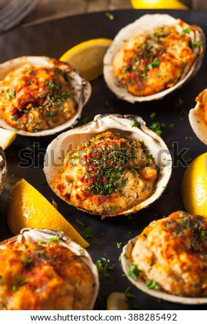 Homemade Baked Clams with Lemon and Parsley
