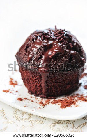 homemade brownie muffin