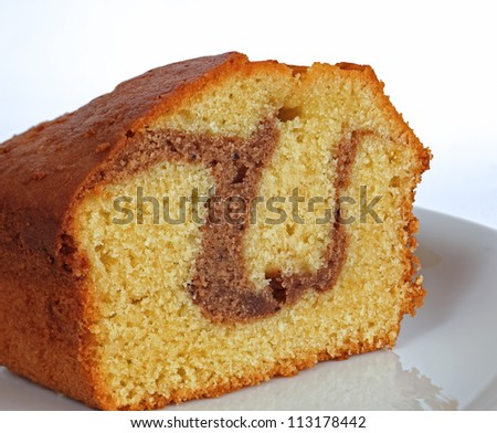 homemade cake with cocoa - stock photo