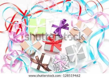 homemade card with label for text - stock photo
