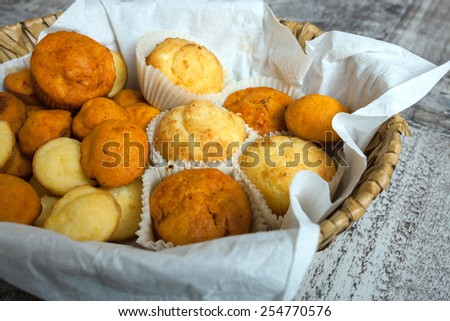 Homemade cheese muffins - stock photo