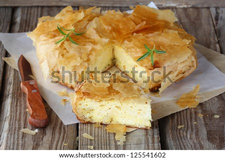 Homemade cheese pie - stock photo