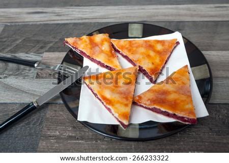 Homemade Cherry Pie - stock photo