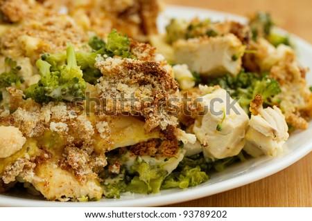 Homemade Chicken Divan - stock photo