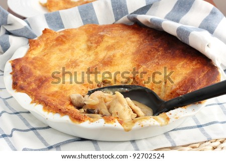 Homemade chicken pie - stock photo