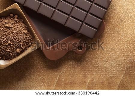 Homemade chocolate - stock photo