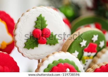 Homemade christmas cookies - gingerbread - stock photo