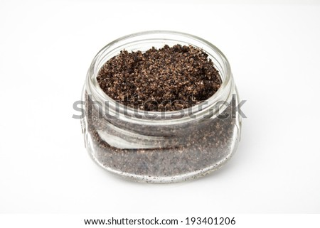 Homemade coffee bath scrub - stock photo