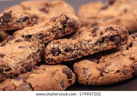 Homemade cookies closeup - stock photo
