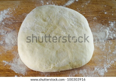 Homemade french bread dough - stock photo
