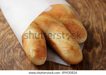 Homemade French bread mini baguettes