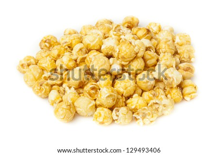 Homemade Fresh Popped Caramel PopCorn ready to eat