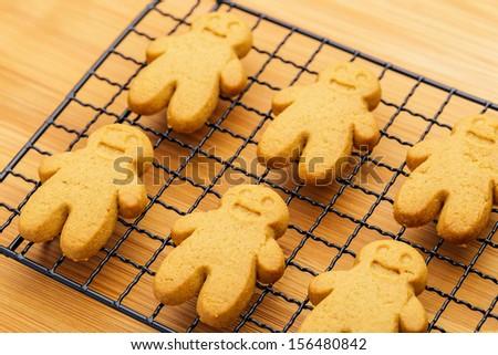 Homemade gingerbread cookies - stock photo
