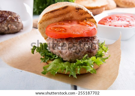 Homemade hamburger
