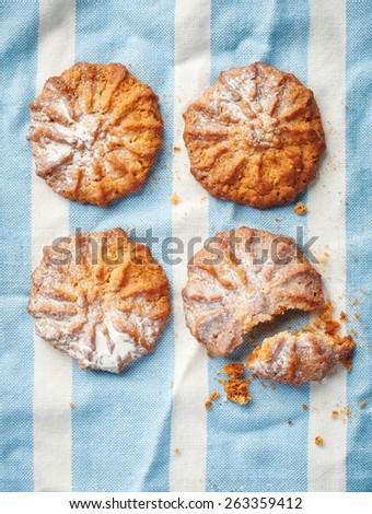 Homemade healthy oatmeal cookies - stock photo