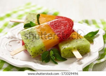 homemade ice cream - stock photo