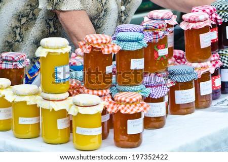 homemade jam - stock photo