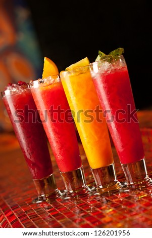 Homemade Lemonades on Bar - stock photo