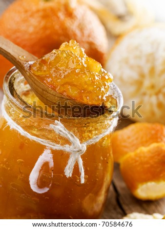 Homemade orange Jam - stock photo