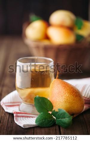 Homemade organic pear cider - stock photo