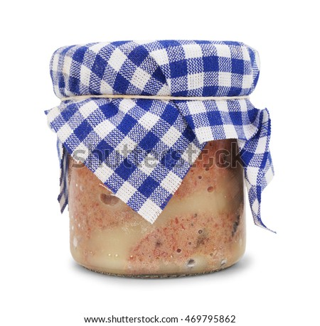 Homemade pate in a glass isolated