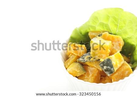 Homemade Pumpkin salad - stock photo