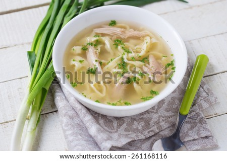 Homemade raw pasta . Selective focus. - stock photo