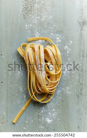 Homemade Ribbon Pasta  - stock photo