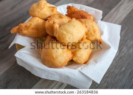 Homemade small bread like snacks - stock photo
