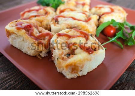 Homemade Small Pizza Rolls - stock photo