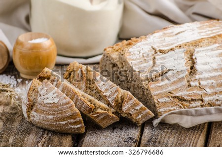 Homemade sourdough bread, very healthy, very simple to make, delicious, place for your advertisment