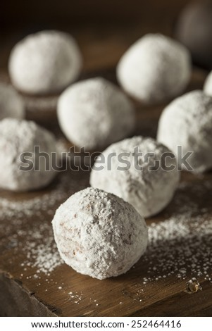 Homemade Sugary Donut Holes on a Background - stock photo