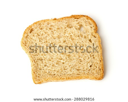 homemade toast on a white background