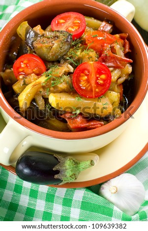 Homemade vegetable stew