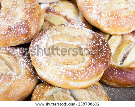 homemade yeast cakes - stock photo