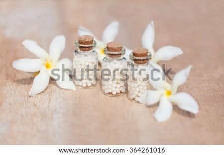 homeopathic pills - stock photo