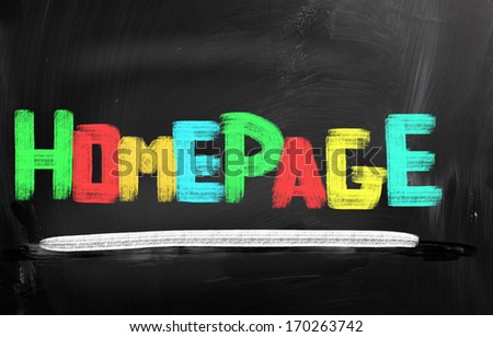 Homepage Concept - stock photo
