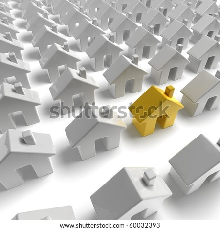 homepage icon on white background - stock photo