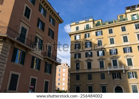 Homes and office buildings in and around Rome