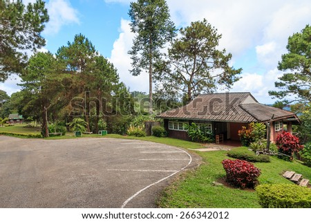 Homes close to nature National Parks in Thailand - stock photo