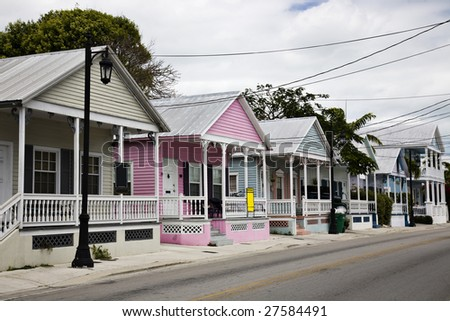 Homes for sale in Key West - stock photo