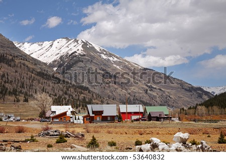 Homesteads beneath the Rocky Mountains in Colorado
