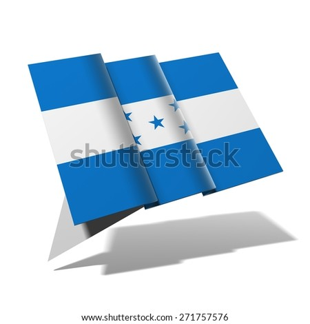 Honduras flag 3D banner - stock photo