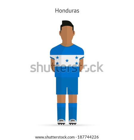 Honduras football player. Soccer uniform. - stock photo