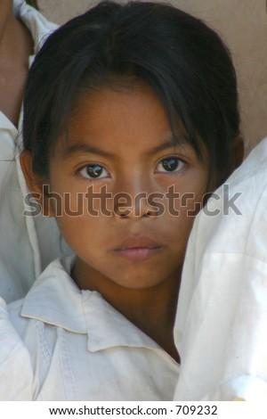 Honduras Private School Girl - stock photo