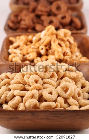 Honey and chocolate cereals