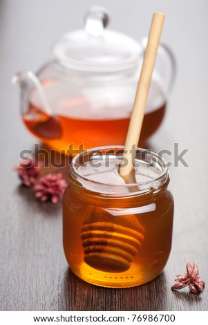 honey and tea