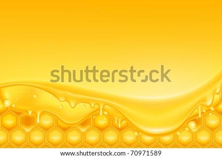 Honey background, bitmap copy - stock photo